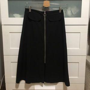 ASOS zip up midi skirt